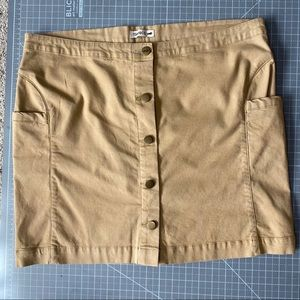 Toad & Co Earthworks Tan Button Skirt